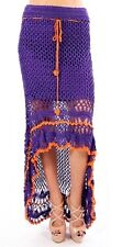 S BOHO Mermaid Bohemian Gypsy Hippie Festival Tribal Crochet Belly Dancing Skirt