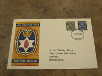 GB First Day Cover / FDC -1968 Northern Ireland Definitive release - 4d & 5d