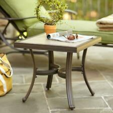 Hampton Bay Pembrey Patio Accent Table Rust Resistant Espresso Garden Deck COOL