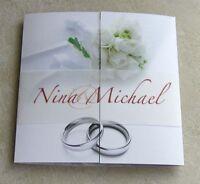 Einladung Hochzeit Einladungskarte Brautstrauß inkl. Kuvert