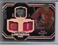 2016-17 UD Black Lustrous Ink Brian Elliot 022/175 Calgary Flames Silver Auto