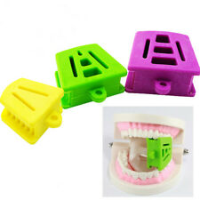 3 Pcs Dental Mouth Props Silicone Bite Blocks Rubber Tongue Piercing 3 Colors