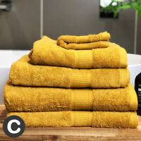 Luxury Ochre Mustard Yellow Super Soft & Thick Absorbent Towels 100% Cotton