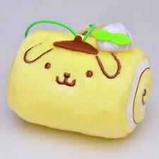 Japan Furyu Pompompurin Purin Mini Swiss Roll Plush Doll Mascot Keychain Strap