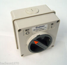 X Crabtree Weatherseal Switch 9561 10a Rotary Switch Ip66 With BACKBOX