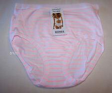 Bonds Ladies Pink White Stripe Print Cottontails Full Brief Size 10 New