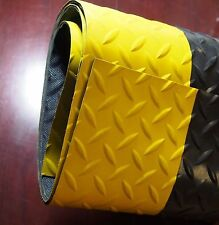 Crown Mats Deck Plate Runner 4' x 5' Black/Yellow CXR0048YBC