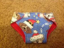 """15"""" Bitty Baby Cabbage Patch Christmas dogs cloth diaper Doll Clothes outfit"""