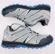 NEW Fila NORTHAMPTON Grey Light Blue Trail Sneakers New Womens Shoes