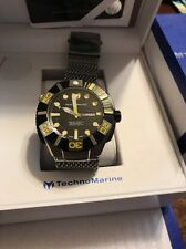 TechnoMarine Black Reef 513006 Swiss Made Men's Automatic Diver Watch $2000 NEW