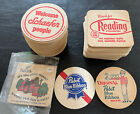 VINTAGE BEER COASTER LOT Koch Pabst Schaefer Reading Brewery 120+ Coasters