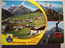 Postkarte, Hirschegg, Kleines Walsertal, Seilbahn, Alpen, Gebirge, Berge