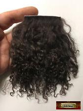 M01563 Morezmore Tibetan Lamb Mini Sample 2x2 Dark Chocolate Brown Doll Hair