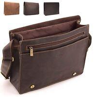 Visconti Large Distressed Real Leather Messenger Shoulder Bag HARVARD L 18548