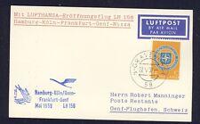 50770) LH FF Deutschland - Genf Schweiz 24.5.59, Karte ab Niederlande, NATO