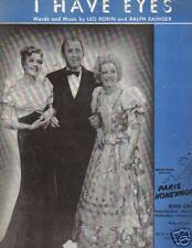 I HAVE EYES..BING CROSBY..PARIS HONEYMOON..1938