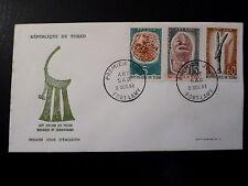 TCHAD 88/89+91  PREMIER JOUR  FDC   ART SAO, MASQUE ,PENDENTIF    5+15+60F  1963