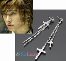Korean Tohoshinki DBSK Yunho U-know Long Cross Earrings