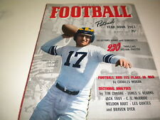 1943 FOOTBALL YEARBOOK PICTORIAL , NICE !!