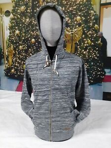 JOHN DEVIN | Herren Vintage Zipper Hoodie Sweater | bicolor grau melliert | L