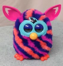 Furby Boom Electronic Toy Hasbro pink, orange, teal, and purple stripes 2012