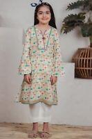 Pakistani Zeen Designer Girls Junior Lawn Embellished Only Kurta Kameez 5-6Years