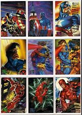 1995 Marvel Masterpieces Parallel Signature EMOTION cards - POPULAR Singles