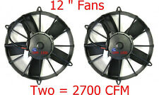 """Champion Cooling Systems Paddle-Blade Dual 12"""" High Power Fans CA"""