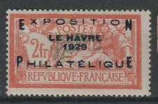 """FRANCE STAMP TIMBRE N° 257 A """" MERSON EXPOSITION HAVRE 1929 """" NEUF x TTB  N747"""