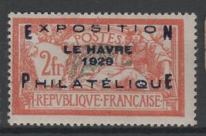 "FRANCE STAMP TIMBRE N° 257 A "" MERSON EXPOSITION HAVRE 1929 "" NEUF x TTB  N747"