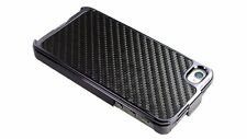 Black Carbon Fiber Chrome Hard Case for iPhone 4 / 4S