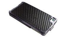 Black Carbon Fiber Chrome Hard Case for iPhone 4 / 4S