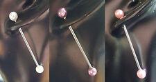 Piercing- & Körper-Schmuck aus Edelstahl mit Perle