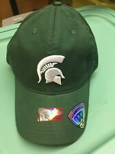 Michigan State Spartans NEW Mens Hat Cap Green One Size Medium Large Spartan MSU