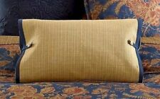 "Ralph Lauren ''Bali Woven Stitch"" 1Pc Indigo/Tan Deco Pillow 15""x 20""Nwt Rare"