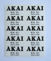 10 x AKAI Metal Reel custom decal stickers Reel to Reel Tape- BLACK - Very RARE