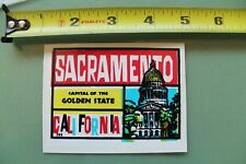 New listing Sacramento Capital Of California V12 Vintage 1960's Water Transfer Window Decal