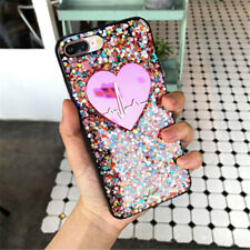 Bling Glitter Pink Heart Pulse Cute Protective Case For iPhone 7 8 Plus X XS MAX