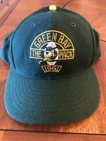 1961 Green Bay Packers Throwback Snapback Cap Hat The Pack Roman
