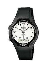 Casio Aw-90h-7bvef Unisex Watch Quartz Analogue White Dial Black Resin Strap