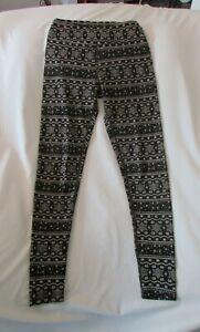 "Ladies ""Merino"" Size S/P, Black/White/Fairisle, Woolskins, Base Layer, Pants"