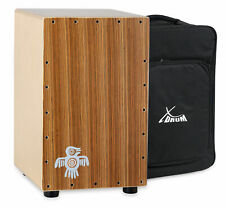 Cajon Drum Hand Percussion Drums Box Birch Zebra Wood Tunable Bass Snare + Bag