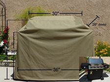 """Premium Tight Weave BBQ grill cover up to 36"""" L Taupe"""