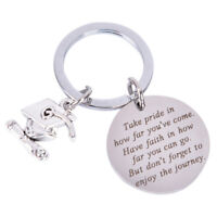 Graduation Keychain Take Pride in Keyring Stainless Steel  Graduates Gifts 2 JR