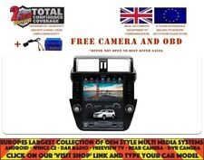 "12.1"" TESLA NAVI BT ANDROID 8.1 PX6 DAB RADIO CARPLAY TOYOTA PRADO 150 14+ 1210"