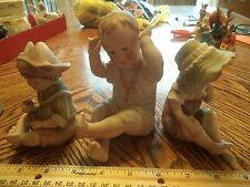 Vintage / Antique Bisque German Figurines Set of 3 Piano Babies