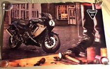 "VERY RARE VINTAGE TRIUMPH DAYTONA  MOTORCYCLE POSTER 39""X24"""