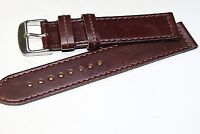 20MM GENUINE ITALIAN LEATHER WATCH BAND STRAIGHT for Seiko Men watch