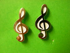 Treble Clef musical pin badge. Choice of colours. Music note lapel badge. Quaver