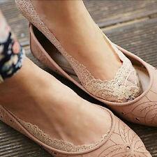 Spitzen Füßlinge Low Cut Unsichtbare Socken Damen Charme Bunt Gemischt 3 Farbe